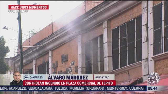 incendio en bodega de plaza comercial en tepito