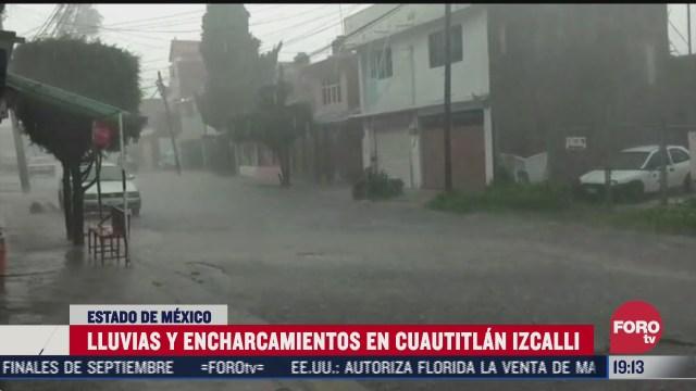 intensa lluvia cae en cuautitlan izcalli estado de mexico