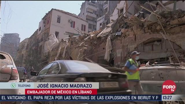 la situacion de los mexicanos en beirut tras explosiones