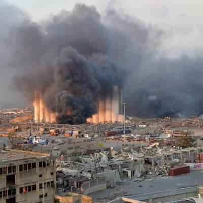 Video: Momento exacto de las explosiones en Beirut