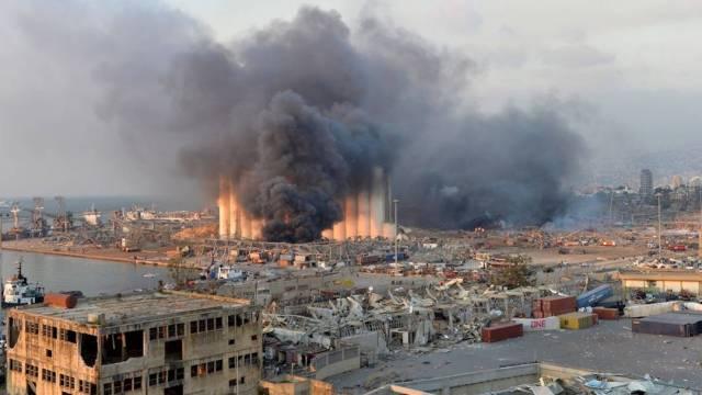 Las explosiones registradas el día de hoy en Beirut, Líbano, fueron de tal magnitud que se escucharon hasta Chipre, a 200 kilómetros de las costas libanesas