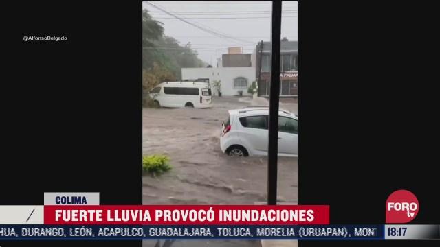 lluvia provoca inundacion en colima