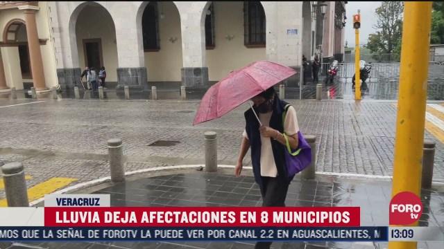 lluvias dejan estragos en veracruz