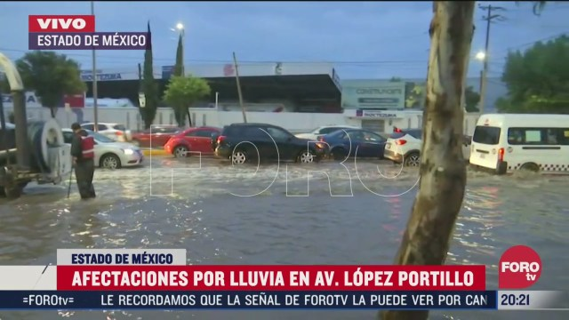 lluvias provocan inundacion en avenida jose lopez portillo