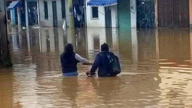 Lluvias provocan afectaciones en San Cristobal de las Casas, Chiapas