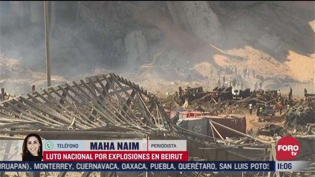luto nacional por explosiones en beirut libano