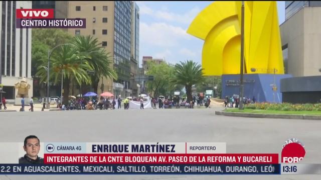 manifestantes de cnte bloquean paseo de la reforma cdmx