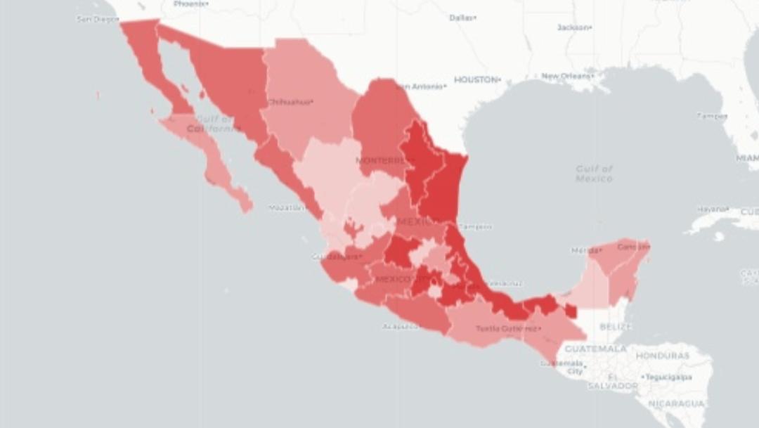Mapa y casos de coronavirus en México hoy