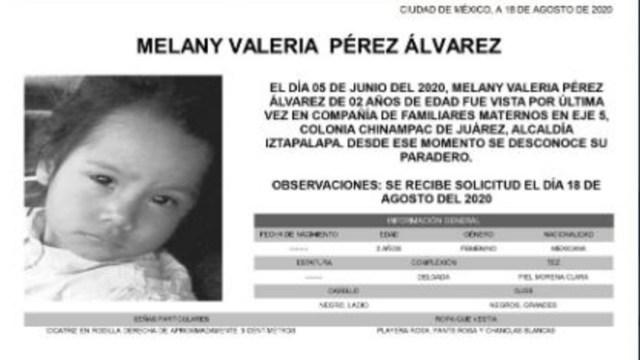 Activan Alerta Amber para localizar a Melany Valeria Pérez Álvarez