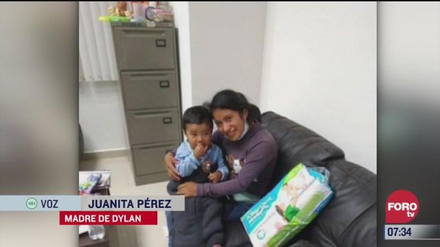 mi hijo fue rescatado en un operativo dice juanita madre de dylan