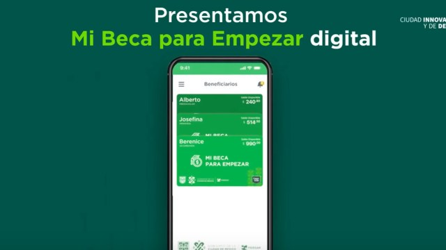 App, Mi Beca Para Empezar, Captura de pantalla