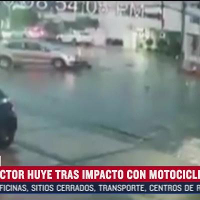 Motociclista es arrollado por vehículo en la ciudad de Puebla