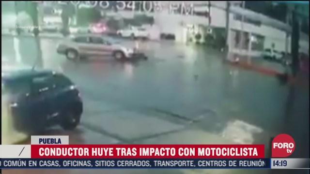 FOTO: 1 de agosto 2020, motociclista es arrollado por vehiculo en la ciudad de puebla
