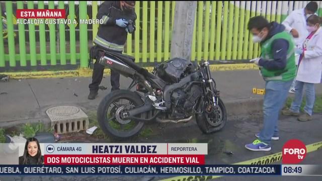 mueren dos motociclistas en accidente vial en cdmx