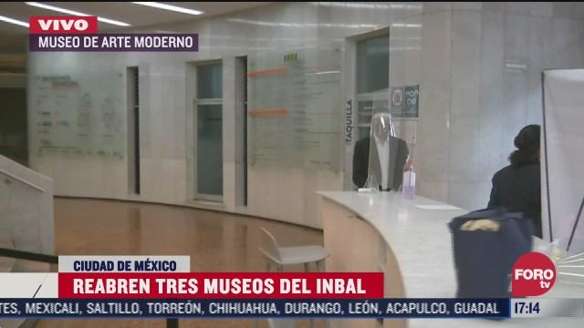 museos del inbal reabren con medidas sanitarias