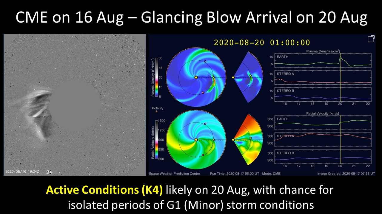 erupciones solares, 16 de agosto, registro