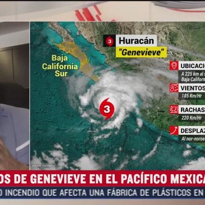 Olas superiores a 5 metros en Baja California Sur por huracán 'Genevieve'