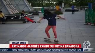 patinador japones exhibe su rutina ganadora en canada