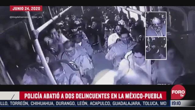 Policía muere tras abatir a ladrones en la México-Puebla