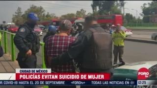 policias impiden suicidio en lindavista