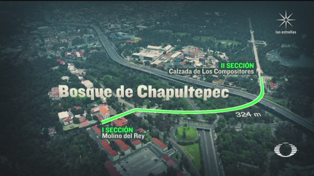 andador que unira la primera y segunda seccion del bosque de chapultepec
