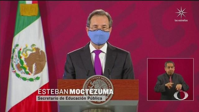 Esteban Moctezuma presenta plan para regreso a clases a distancia en la mañanera de hoy