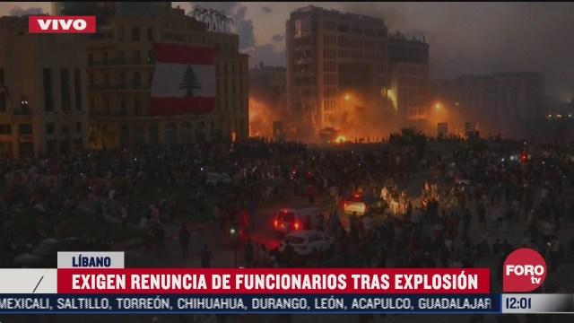 FOTO: 8 de agosto 2020, protestas en beirut tras explosiones