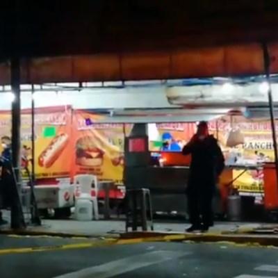Asesinan a hombre cuando cenaba en un puesto de hamburguesas en la colonia San Rafael