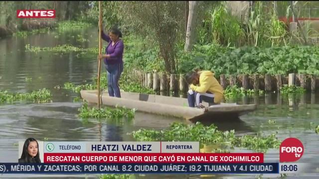 recuperan cuerpo de menor ahogada en xochimilco