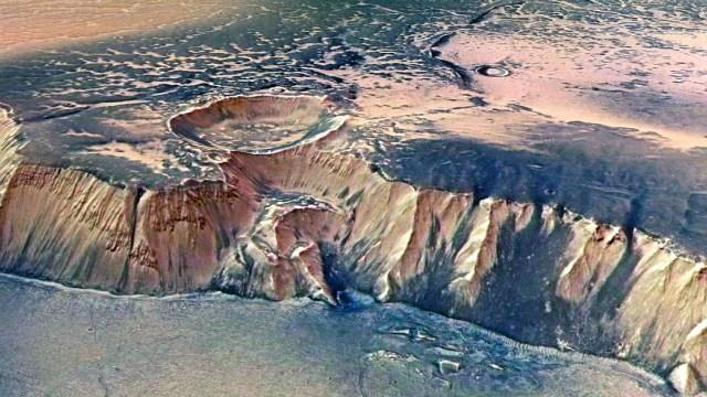 Regiones de fuentes de agua más grandes de Marte