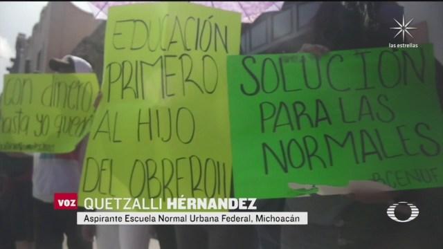 irregularidades en exámenes de admision escuelas normales superior de michoacan