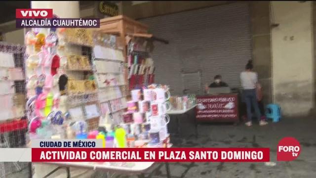 reportan bajas ventas en la plaza santo domingo en cdmx