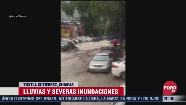 FOTO: 1 de agosto 2020, reportan lluvia intensa en tuxtla gutierrez
