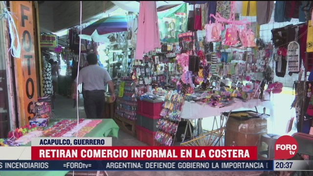 retiran comercio informal del puerto de acapulco