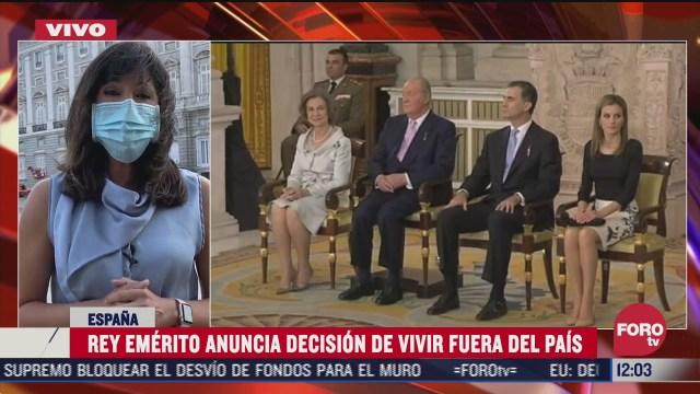 rey juan carlos comunica su decision de abandonar espana