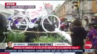 FOTO: 8 de agosto 2020, rodada homenaje a ciclistas muertos en accidentes