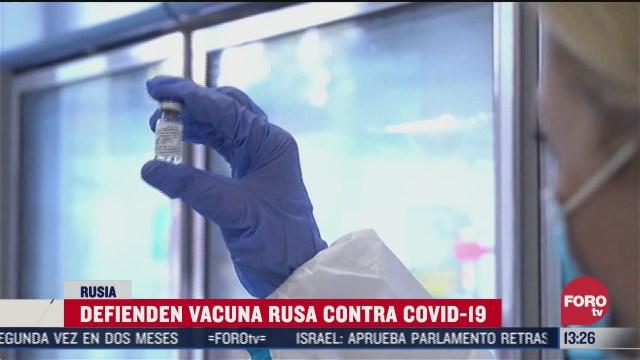 rusia defiende su vacuna contra el coronavirus covid