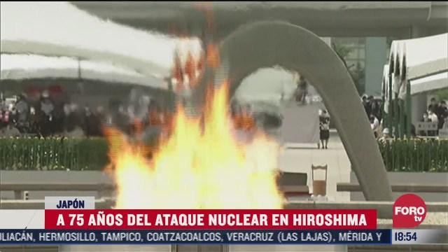 se cumplen 75 anos del ataque nuclear en hiroshima
