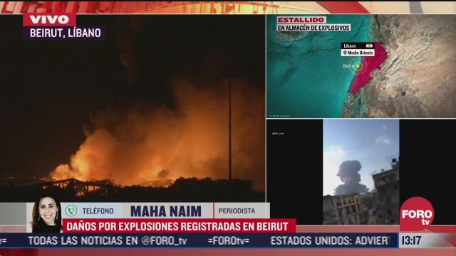 se desconoce aun causa de fuerte explosion en beirut