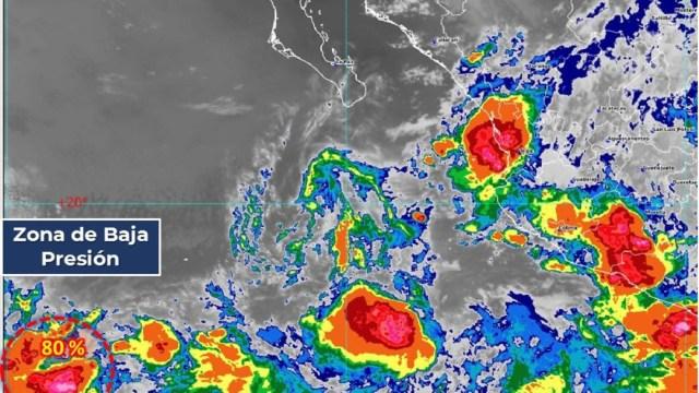 Se forma la Depresión Tropical TRECE-E en el Océano Pacífico
