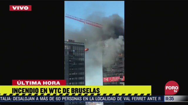 se incendia world trade center de bruselas belgica