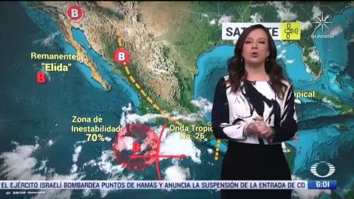 se preven lluvias fuertes en nayarit jalisco colima y michoacan
