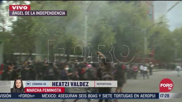 se registra enfrentamientos en marcha feminista en la cdmx