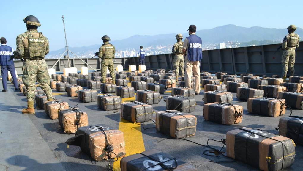 Marina decomisa más de dos toneladas de cocaína en Guerrero