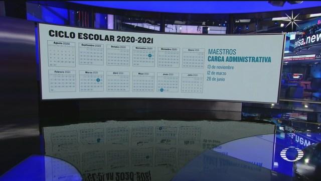 Calendario Escolar 2020-2021 presentado por la SEP