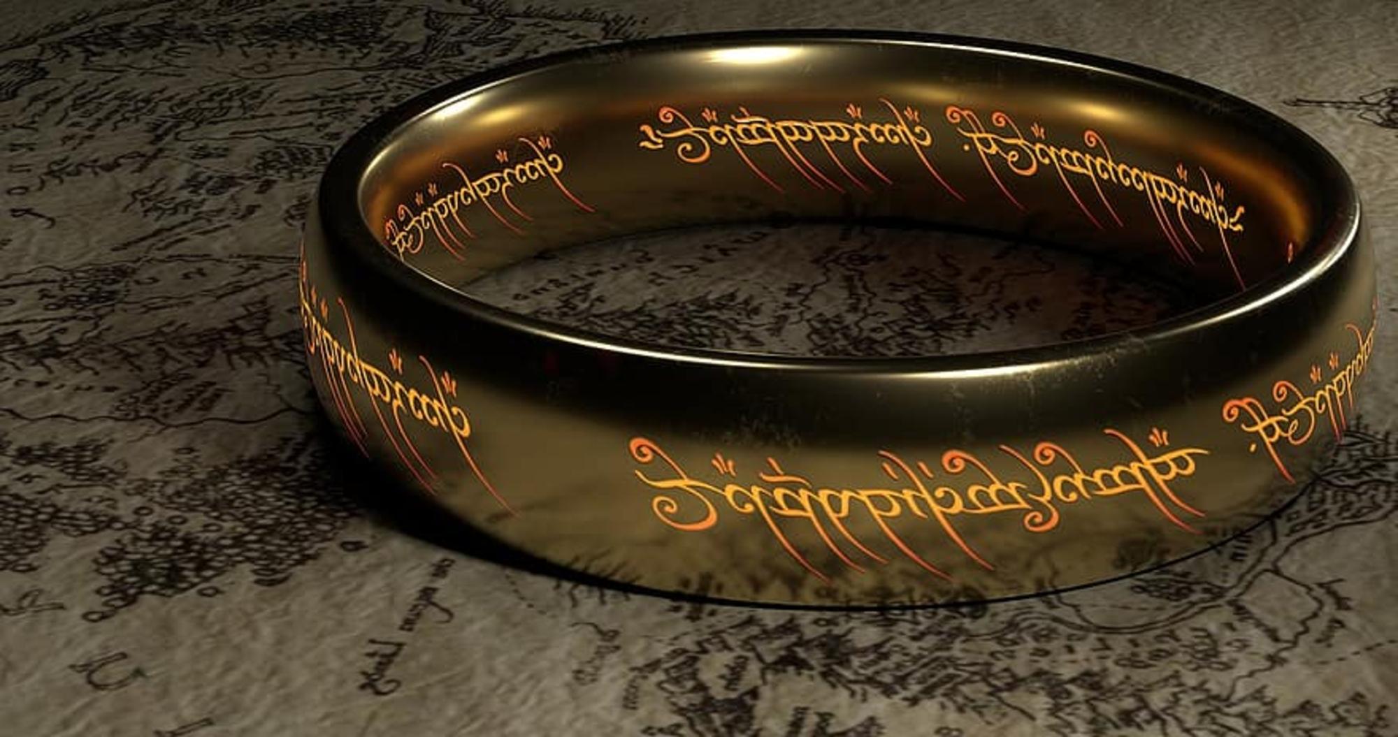 El Anillo Único de El Señor de los Anillos de J.R.R. Tolkien