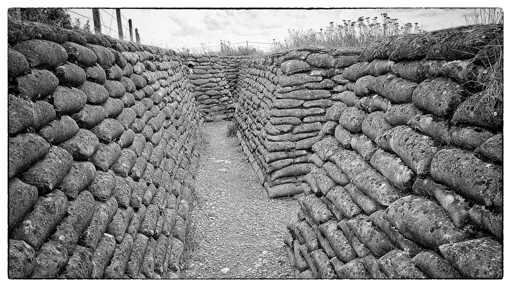 Fotografía de una trinchera de la primera guerra mundial