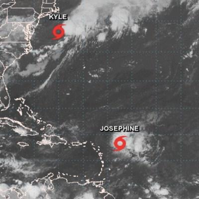 Tormenta tropical 'Josephine' acecha al Caribe y 'Kyle' se aleja de costas de EEUU