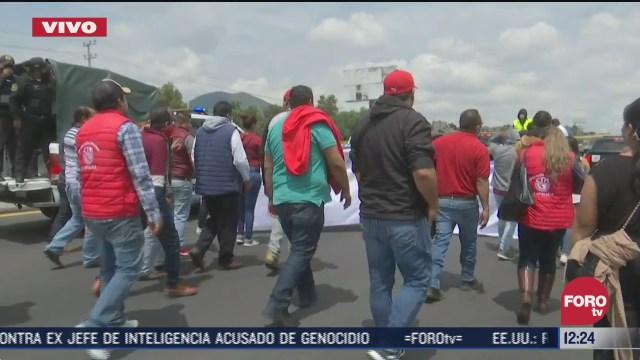 transportistas bloquean la autopista mexico puebla