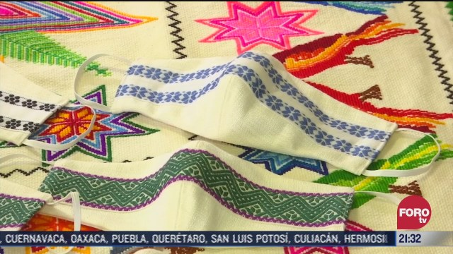 cubrebocas hehco por artesanas de México